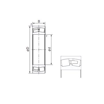23964E NACHI Cylindrical Roller Bearings
