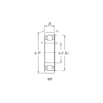 NF222 KOYO Cylindrical Roller Bearings