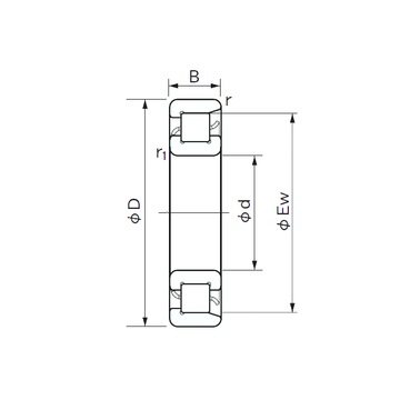 NF 322 NACHI Cylindrical Roller Bearings