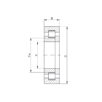 NUP18/1700 ISO Cylindrical Roller Bearings