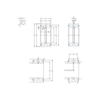 NNF5034ADA-2LSV SKF Cylindrical Roller Bearings