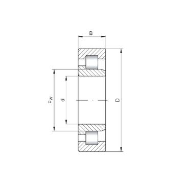 NJ2034 ISO Cylindrical Roller Bearings #1 image