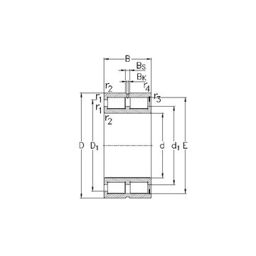 NNCF5052-V NKE Cylindrical Roller Bearings #1 image