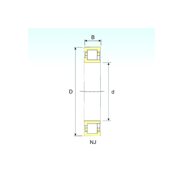 NJ 311 ISB Cylindrical Roller Bearings #1 image