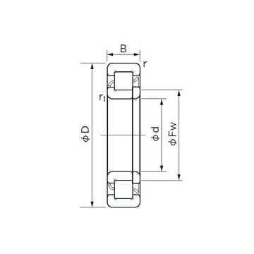 NUP 213 NACHI Cylindrical Roller Bearings #1 image